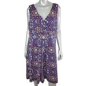 Lands End Wrap Bust Dress Plus Size 2X 20W 22W